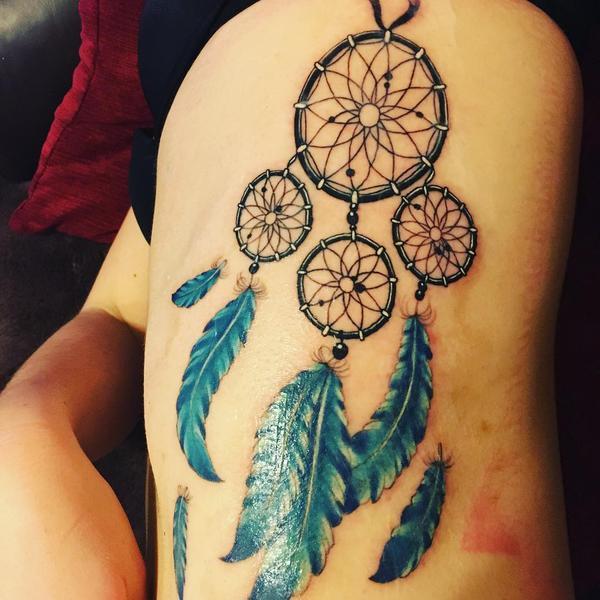 Tattoo acchiappasogni colorato