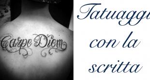 Tatuaggio Tattoo Scritta Significato