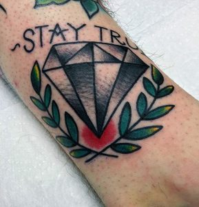 Tatuaggio diamante Old School