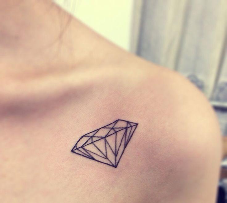 Diamante a tatuaggio stilizzato