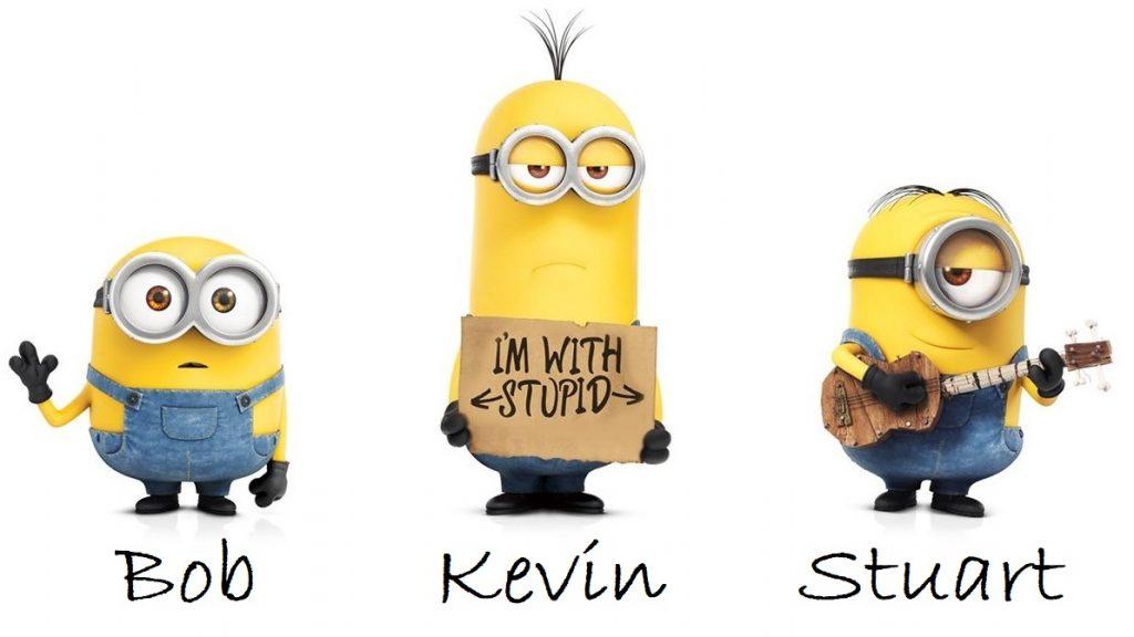 Minions Kevin Bob Stuart