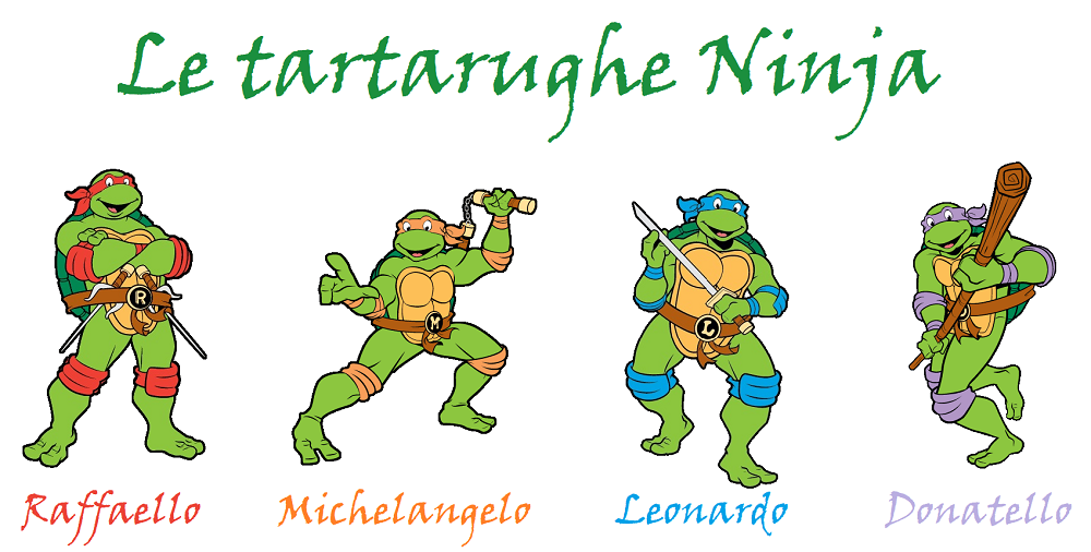 Nomi delle tartarughe ninja colore bandana