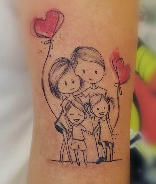 Tatuaggio Tattoo Famiglia Stilizzato