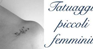 Tatuaggi Tattoo Piccoli Femminili Significato