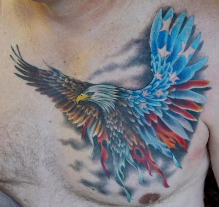Tatuaggio Aquila Tattoo colorato multicolor