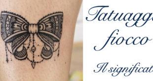 Tatuaggio Tattoo Fiocco Significato