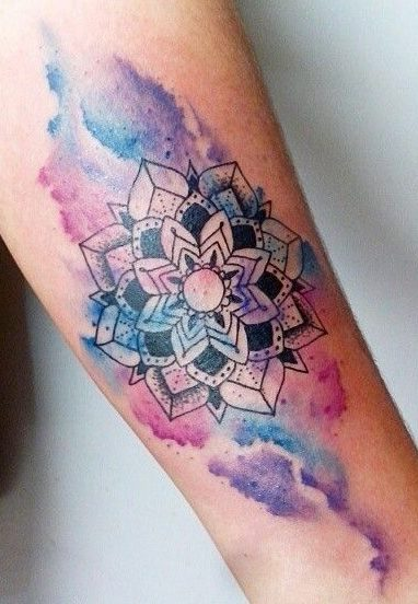 Tatuaggio Tattoo Mandala Acquerello Watercolor