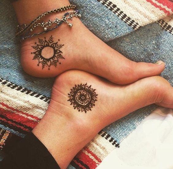 Tatuaggio Tattoo Mandala Piedi