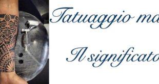 Tatuaggio Tattoo Maori Significato