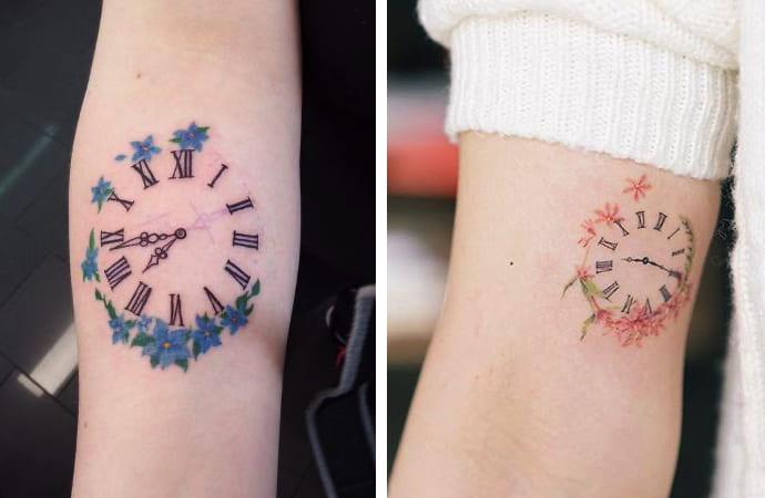 Tatuaggio Tattoo Orologio Femminile