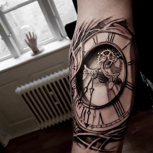 Tatuaggio Tattoo Orologio Realistico 3D