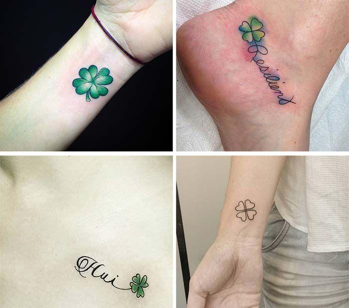 Tatuaggio Tattoo Quadrifoglio Collage
