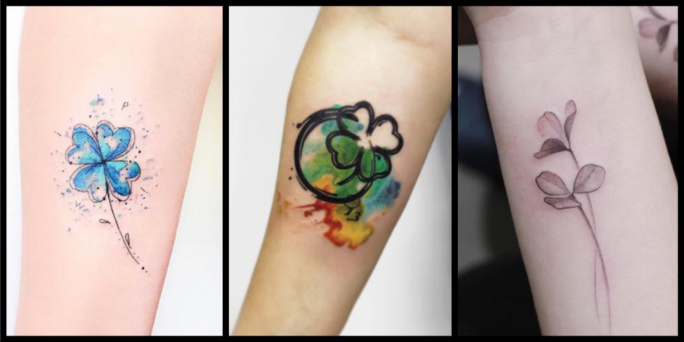 Tatuaggio Tattoo Quadrifoglio Varianti
