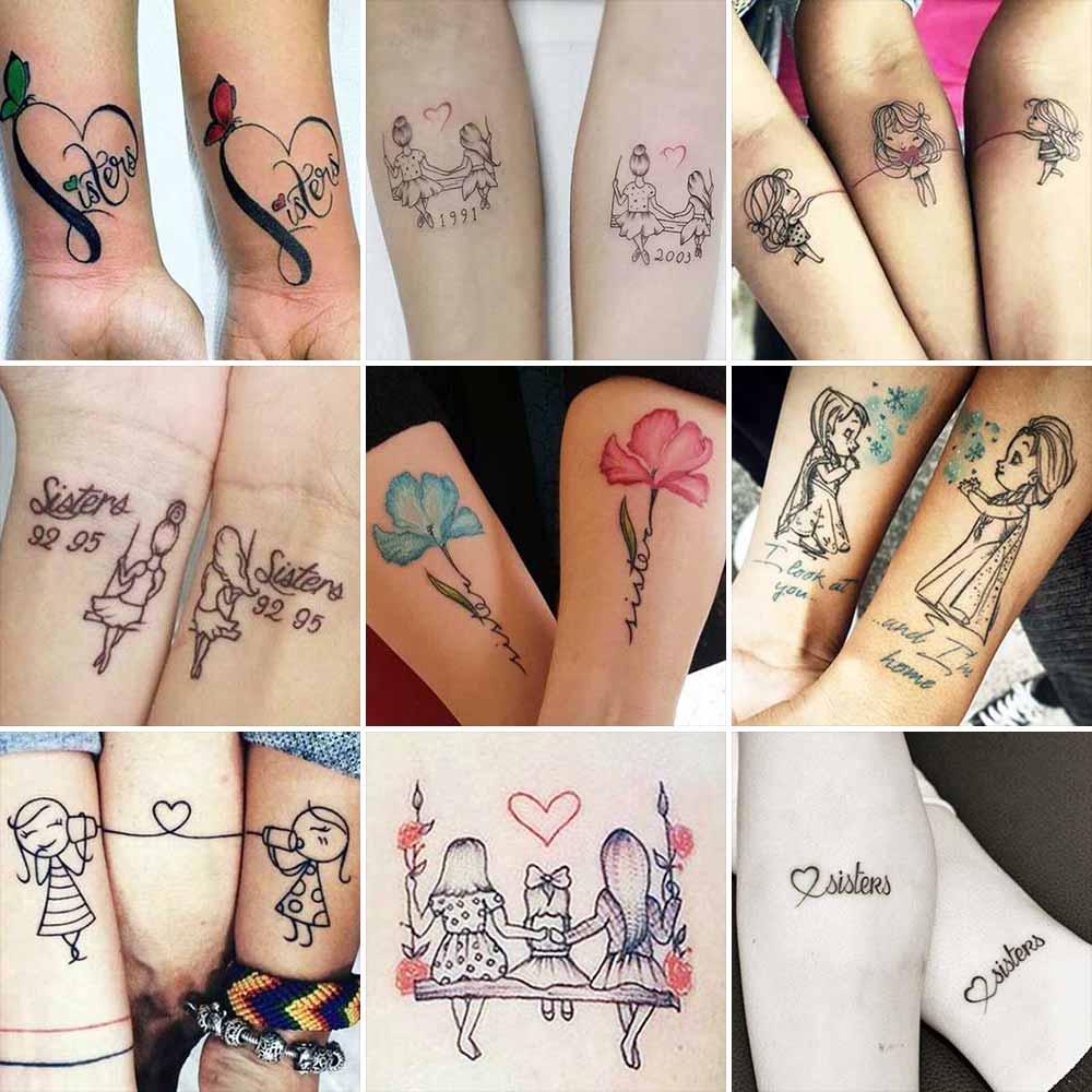 Tatuaggio Tattoo Sorelle Collage