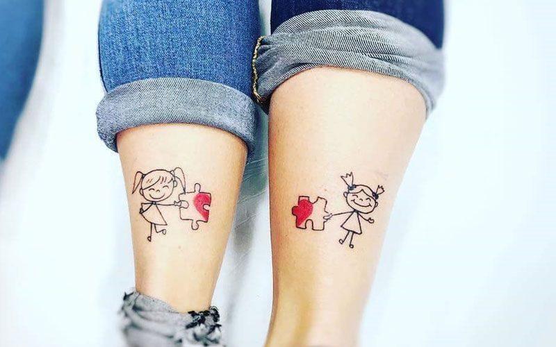 Tatuaggio Tattoo Sorelle Puzzle