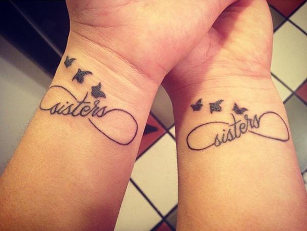 Tatuaggio Tattoo Sorelle Infinito Rondine