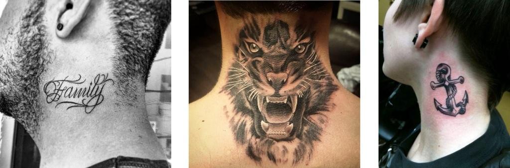 Tatuaggio tattoo collo significato animali oggetti scritte