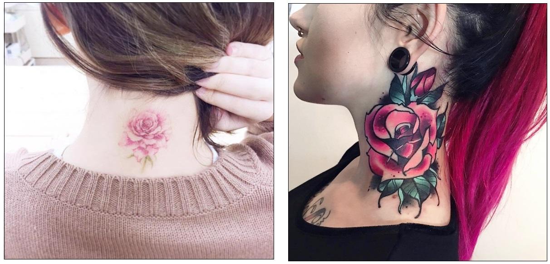 Tatuaggio tattoo collo significato fiori