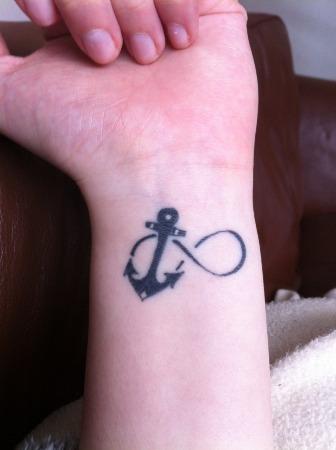 Tatuaggio tattoo polso ancora