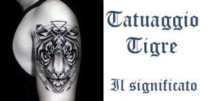 Tatuaggio tattoo tigre significato