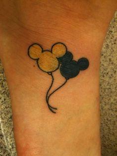 Tatuaggio Tattoo Piccoli Femminili Topolino Palloncino Gonfiabile
