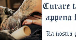 Come curare tatuaggio tattoo appena fatto screen