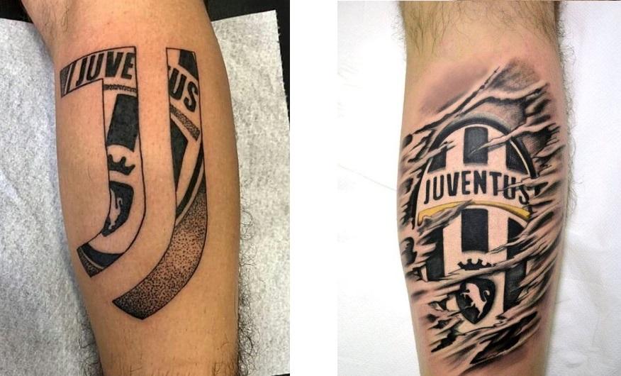 Tattoo Tatuaggio Juventus stemma vecchio e nuovo