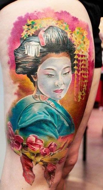 Tatuaggio Geisha Tattoo Significato Colori