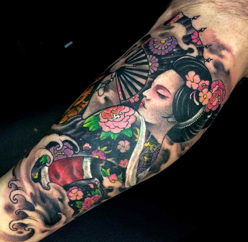 Tatuaggio Geisha Tattoo Significato Vemtaglio