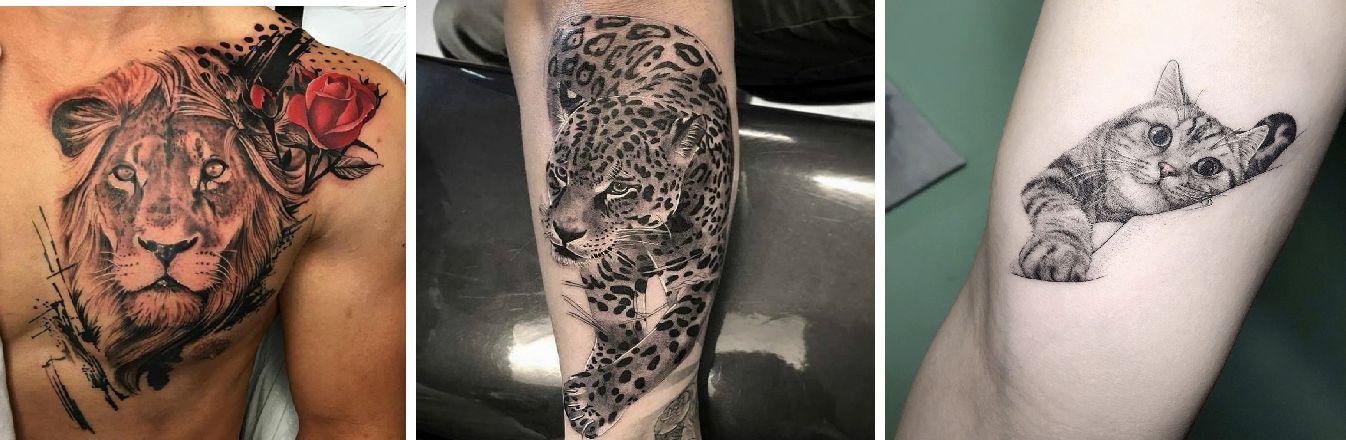 Tatuaggio Tattoo Animali Felini