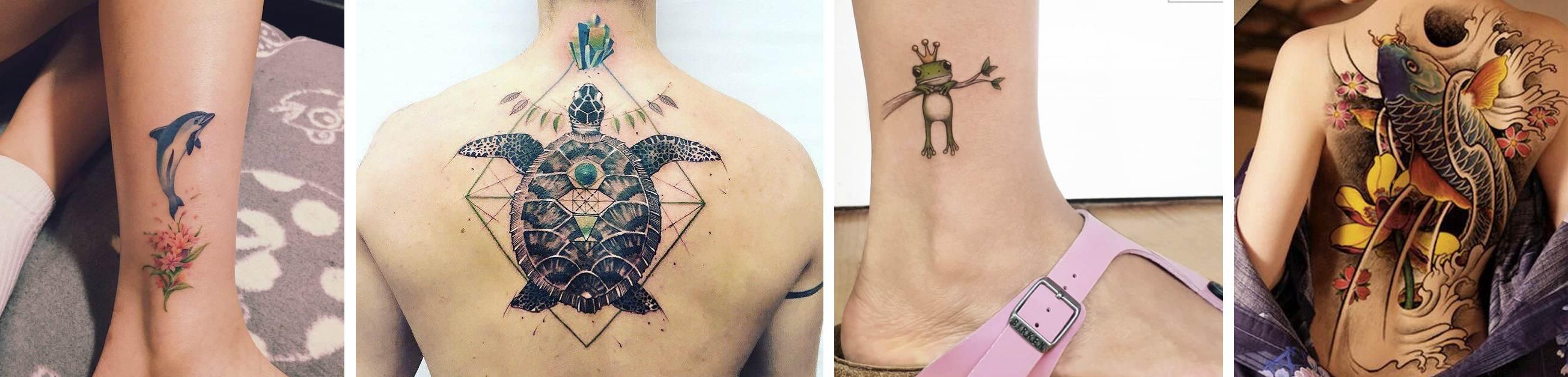 Tatuaggio Tattoo Animali acqua
