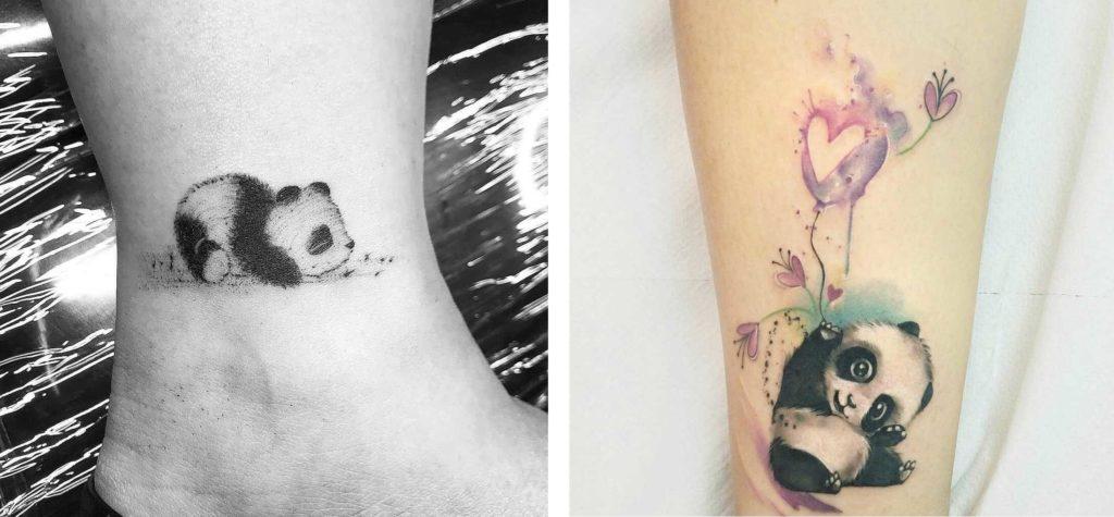 Tatuaggio Tattoo Animali bianco nero colori