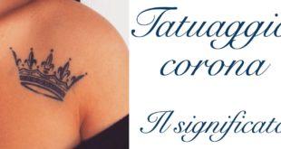Tatuaggio Tattoo Corona Significato