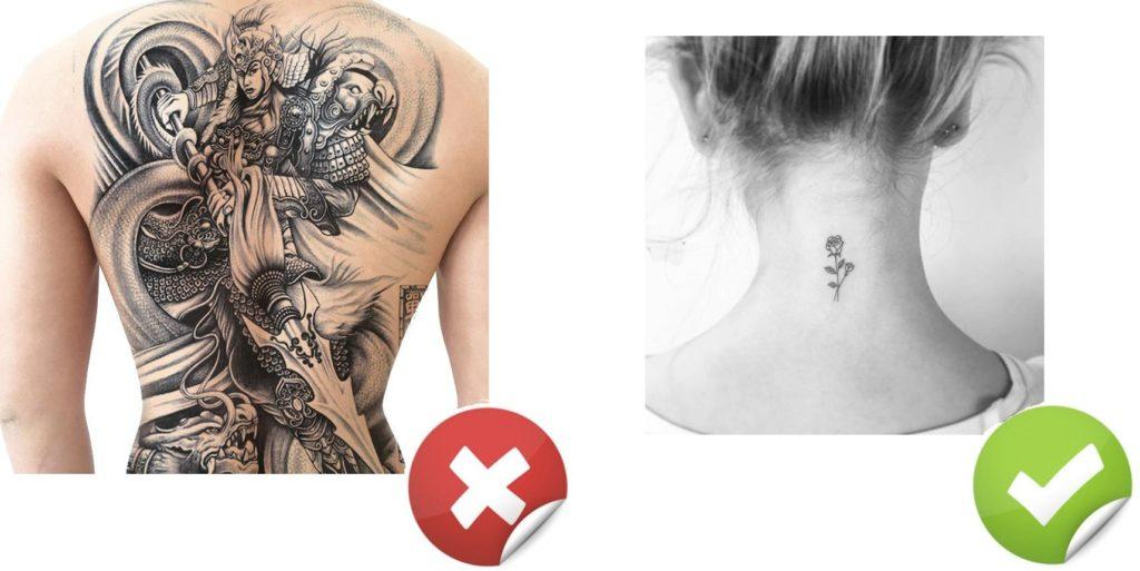 Tatuaggio Tattoo Dolore no grande si piccolo