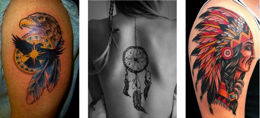 Tatuaggio indiano tattoo significato copricapo aquila acchiappasogni