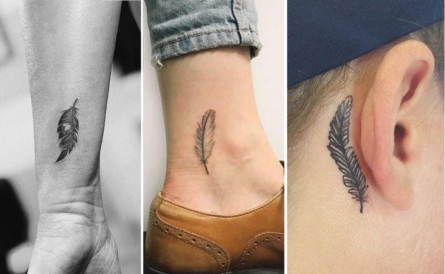 Tatuaggio piuma tattoo piccoli