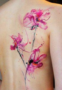 Tatuaggio tattoo acquerello fiori