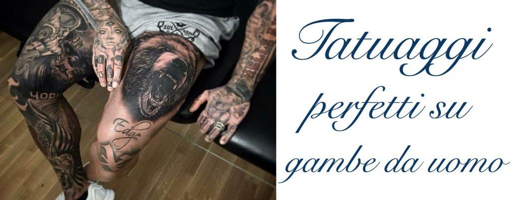 Tatuaggio tattoo gamba uomo significato