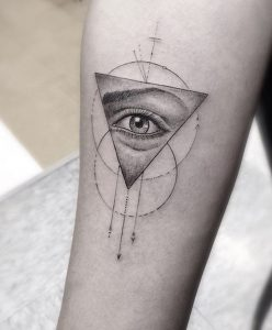 Tatuaggio tattoo triangolo occhio
