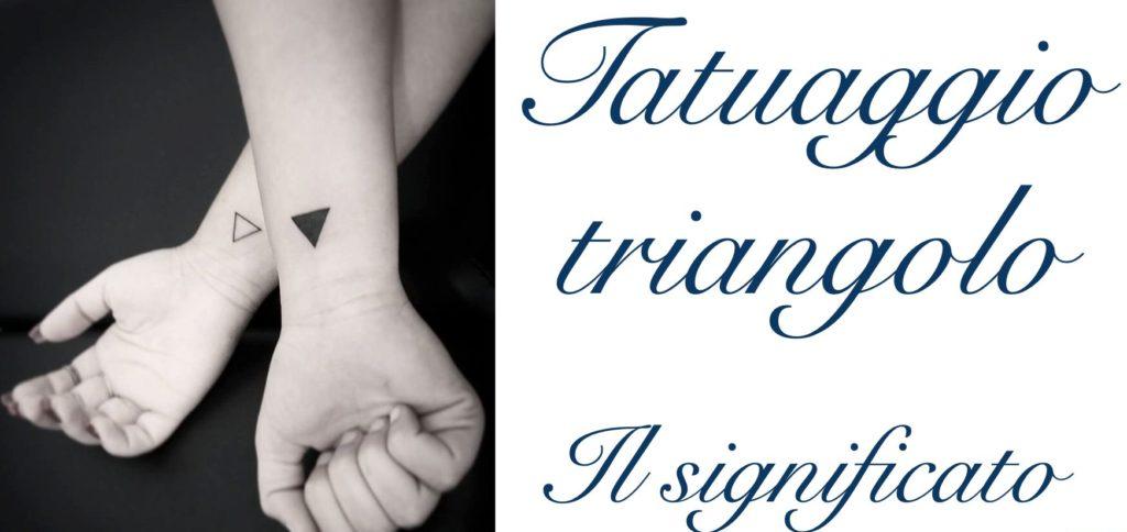 Tatuaggio tattoo triangolo significato