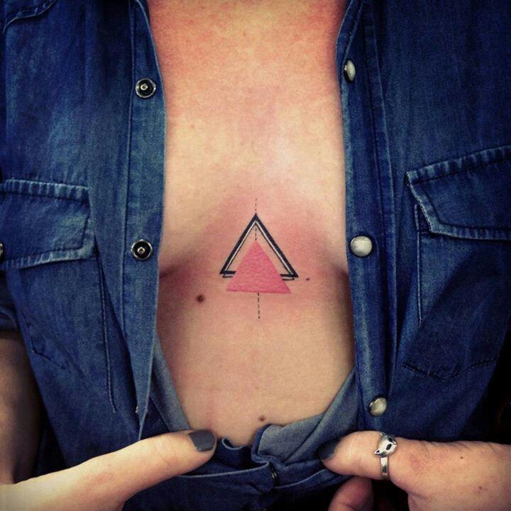 Tatuaggio tattoo triangolo under bob