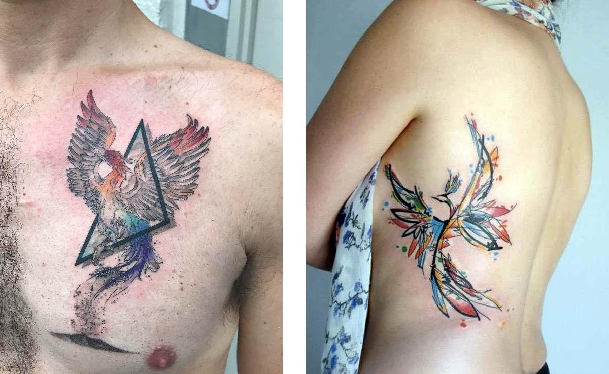 Tattoo Tatuaggio Forza Interiore Fenice