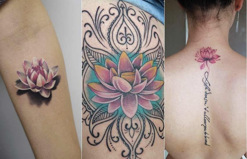 Tattoo Tatuaggio Forza Interiore Fiori Loto