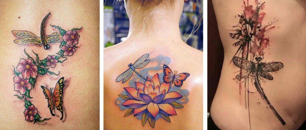 Tattoo Tatuaggio Forza Interiore farfalla libellula