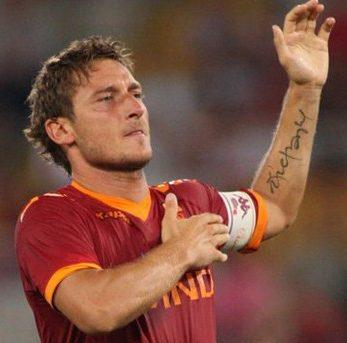 Tatuaggi Tattoo Francesco Totti Stephany