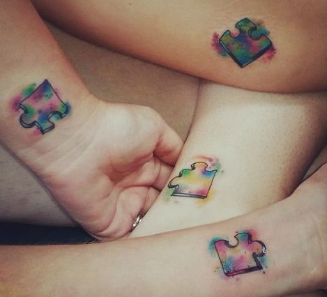 Tatuaggio Tattoo Amiche Puzzle