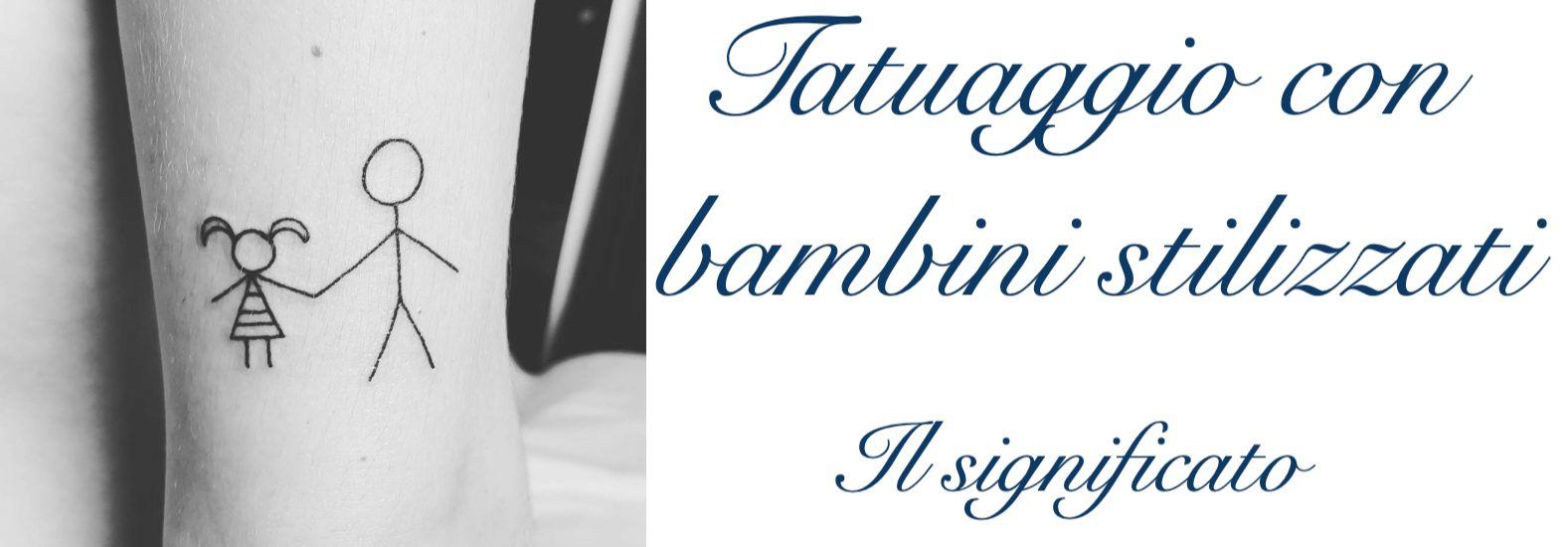 Tatuaggio Tattoo Bambini Stilizzati Significato