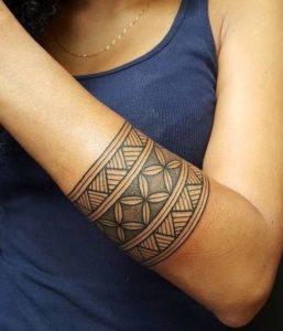 Tatuaggio Tattoo Bracciale Donna polinesiano