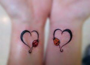 Tatuaggio Tattoo Coccinella coppia