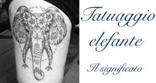 Tatuaggio Tattoo Elefante Significato